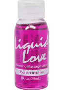 Liquid Love Warming Massage Lotion Watermelon 1 Ounce