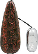 Primal Instinct Wired Remote Control Bullet Snake Print Red