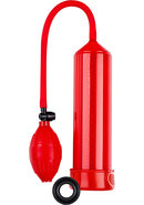 Performance 101 Starter Series Penis Pump Red