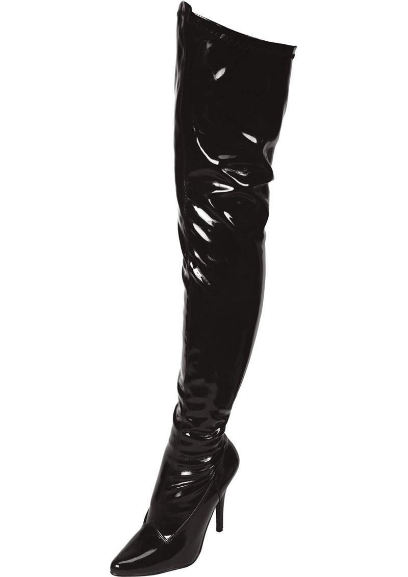 Black Thigh High Boot Sz 6