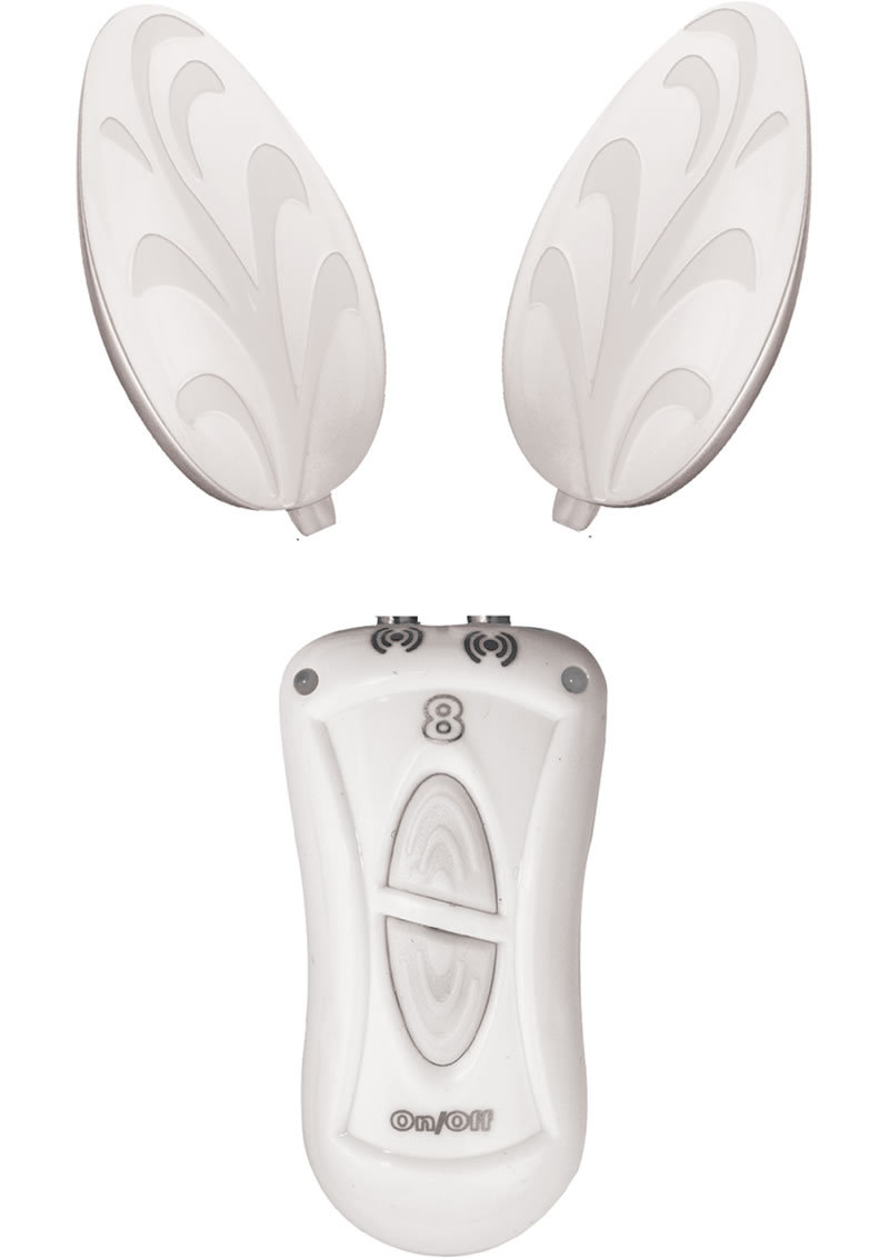 Ebony And Ivory Dual Vibrating Remote Control Eggs White